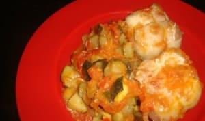 Paupiettes à la courgette, aux tomates et aux épices cajun