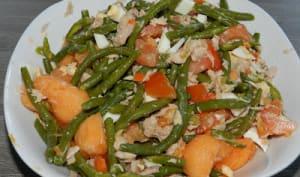 Salade de haricots au melon