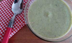 Soupe froide de courgette la crème de Chavroux