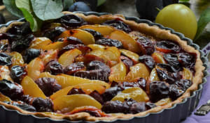 Tarte bicolore aux 2 prunes
