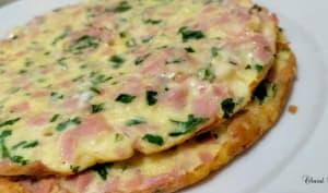 Crepioca jambon fromage