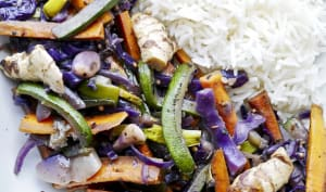 Wok saveurs thaï aux 5 légumes