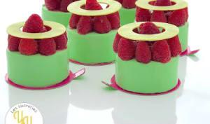Petits gâteaux Pistache Framboises
