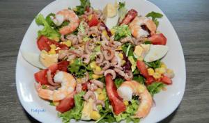 Saveurs de la mer dans une salade composée