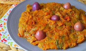 Zaalouk caviar d'aubergine marocain