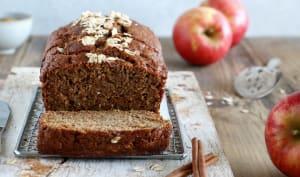 Cake aux pommes à la farine complète