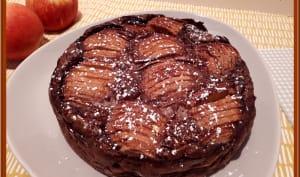 Flaugnarde pomme rhum chocolat