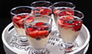 Sangria blanche aux fruits rouges