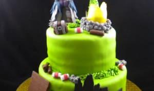 Des cupcakes et un gâteau Fortnite