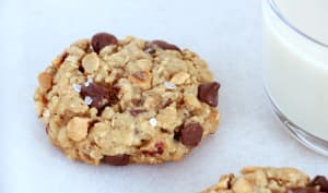 Cookies à l'avoine, au chocolat et aux noisettes
