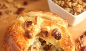 Camembert rôti aux noix et aux cranberries