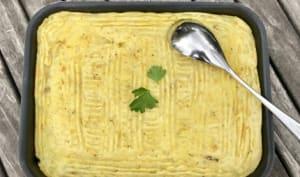 Pommes de terre et lentilles comme un Parmentier