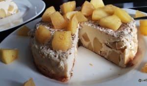 Flan aux pommes, amandes et rhum arrangé
