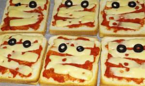Toast Momie d'Halloween