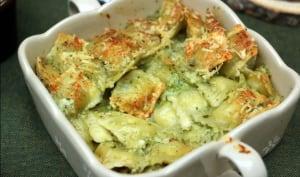 Cassolettes de ravioles au beurre d'ail
