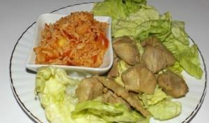 Sauté de porc à la japonaise et riz à la tomate