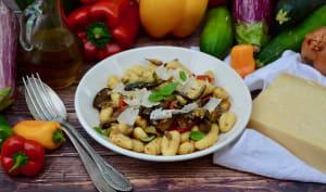 Gnocchis aux légumes grillés