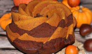 Cake marbré chocolat, potimarron et épices