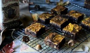 Brownie au chocolat, noix et citrouille