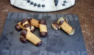Buchettes chocolat et café au thermomix, préparés en 15 minutes.