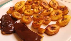Bananes plantain mûres frites