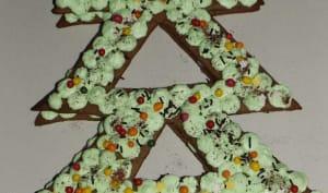 Christmas cake chocolat et pistache