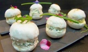 Macarons de champignons au fromage frais