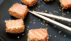 Mi-cuit de saumon au sésame