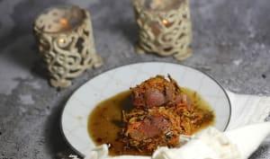 Chevreuil en croûte de carottes pommes de terre