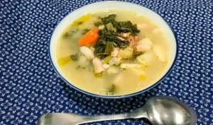 Soupe de haricots blancs aux légumes
