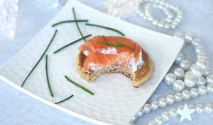 Blinis faciles au saumon fumé à l'anis
