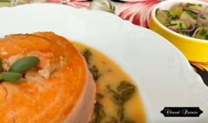 Darne de saumon à l'oseille, salade de chayote