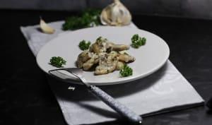 Cuisses de grenouilles à la crème ail et persil