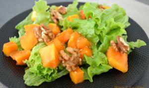 Salade de butternut rôtie et kaki