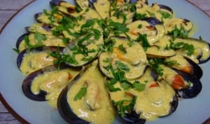 Mouclade charentaise au curry