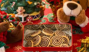 Sablés spirales vanille chocolat
