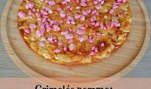 Grimolée pommes, amandes et pralines roses