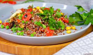 Taboulé de quinoa rouge