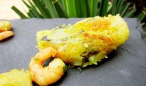 Rouleaux de printemps aux crevettes, champignons noirs, vermicelles de riz et pâte de cacahuète