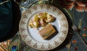 Marbré de poule faisane au foie gras