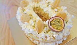 Number Cake Fruits de la Passion et Chocolat Blanc