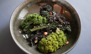 Choux kale et noisettes.