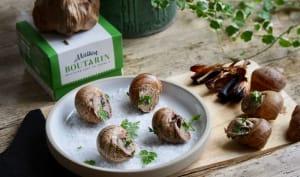 Escargots farcis au beurre à l'ail noir
