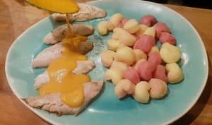 Filets de rouget sauce safranée