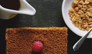 Gâteau poire miel amande
