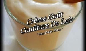 Crème goût confiture de lait