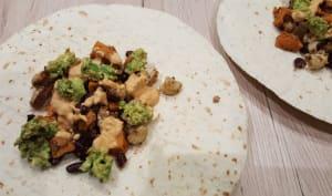 Tacos végétariens chou fleur et patate douce