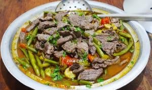 Tajine aiguillettes de veau et légumes frais