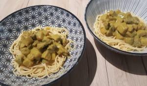 Curry de céleri rave et champignons