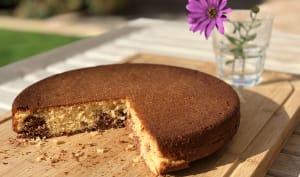 Gâteau au yaourt marbré chocolat cannelle